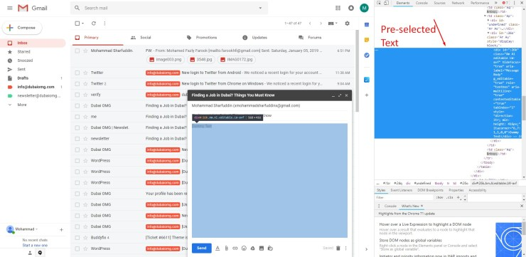 How To Insert HTML in Gmail