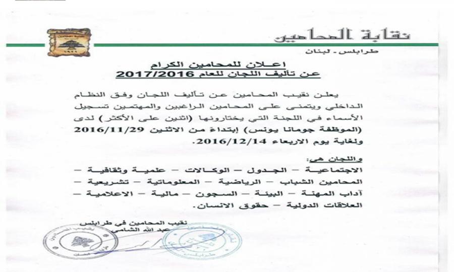 """هل تلغى لجنة المرأة في نقابة محامي طرابلس باعتبارها """"شغل نسوان""""!"""