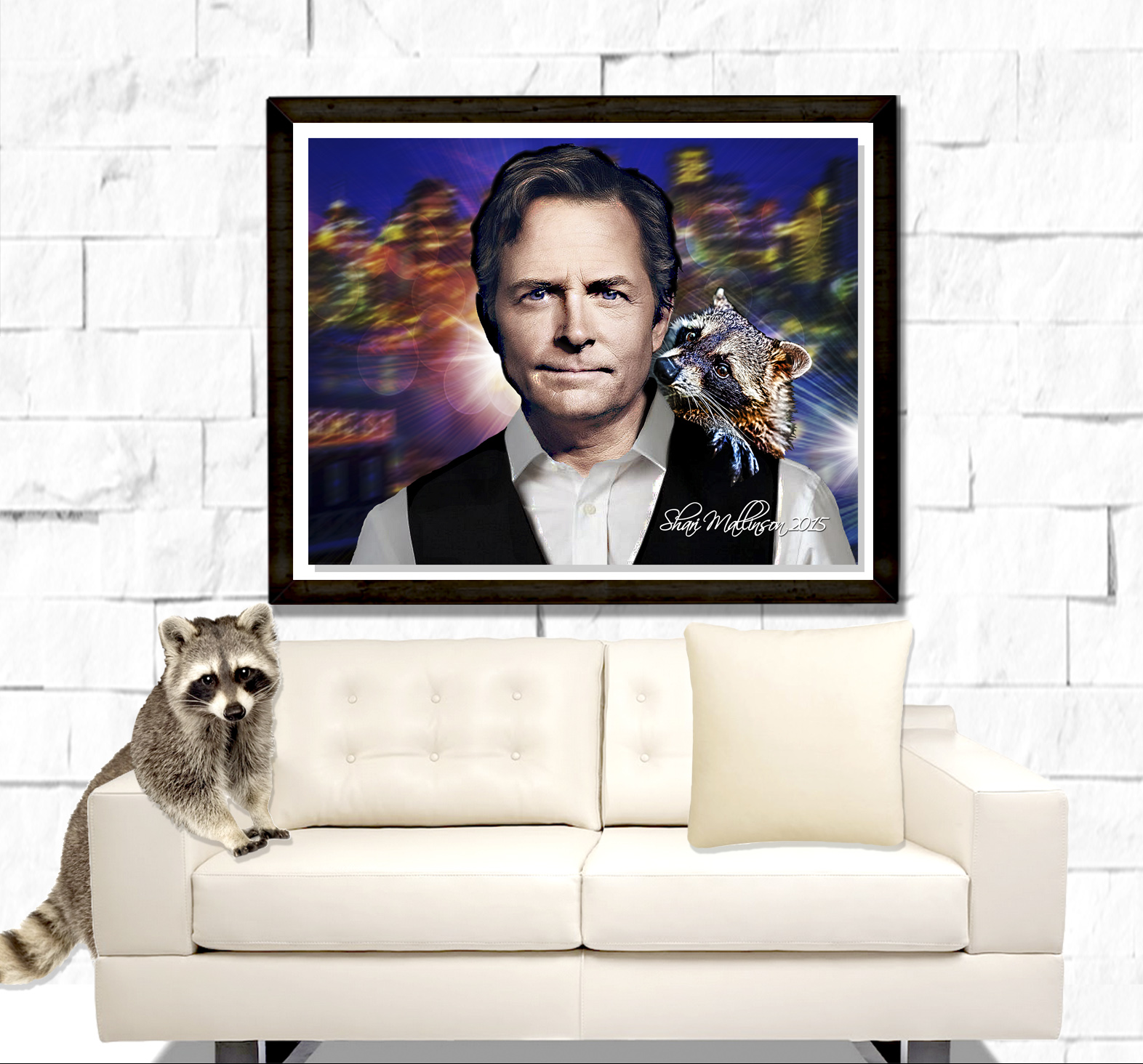Michael J Fox Portrait
