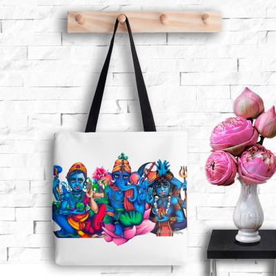 Lotus Trio, Tote Bag