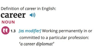 Definition of Career