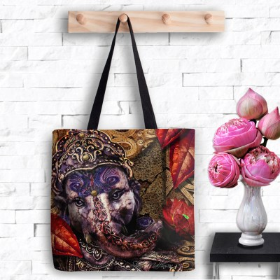 Ganesh's Lotus Fire, Tote Bag