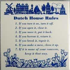 Good advice-Dutch House Rules
