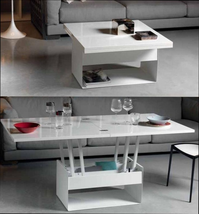 Table Basse Transformable Table Haute Table Modulable