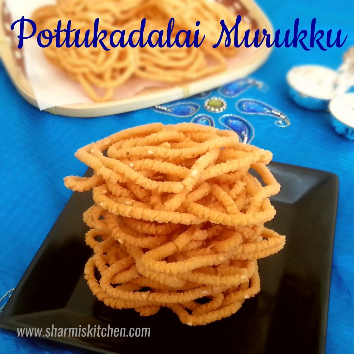 Pottukadalai Murukku | Roasted Gram Murukku Recipe - Diwali Snack