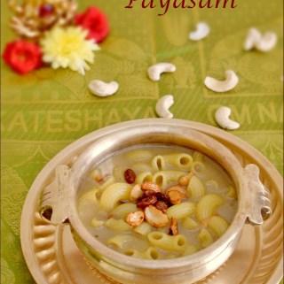 Macaroni Payasam | Macaroni Kheer Recipe