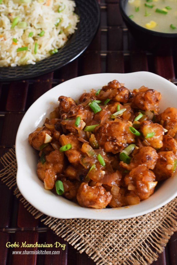 Gobi Manchurian Dry Recipe Cauliflower Manchurian Dry