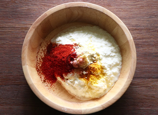 tandoori aloo gravy recipe prepare marinade