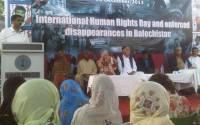 Speakers addressing International Human Rights Day Seminar, Karachi Press Club. Photo courtesy of Kiyya Baloch.