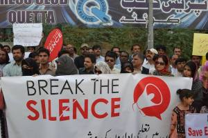 break the silence protest 3