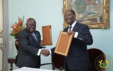 : Ghana' s Nana Addo Dankwa Akufo-Addo (left) with Alassane Ouattara during the signing of the Abidjan Declation (CREDIT: graphic.com.gh)