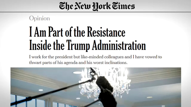 President Trump Exploits NYT Op-Ed To Distract Americans