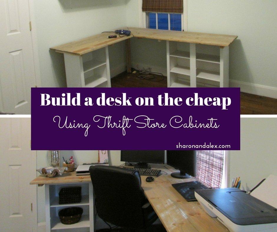 Desk using cabinet bases