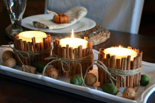 Fall Decor - Cinnamon Stick Candles