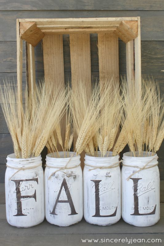 Fall Decor - Rustic Mason Jars