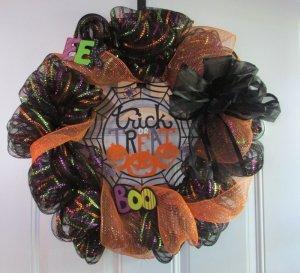 Deco Mesh Wreath Halloween