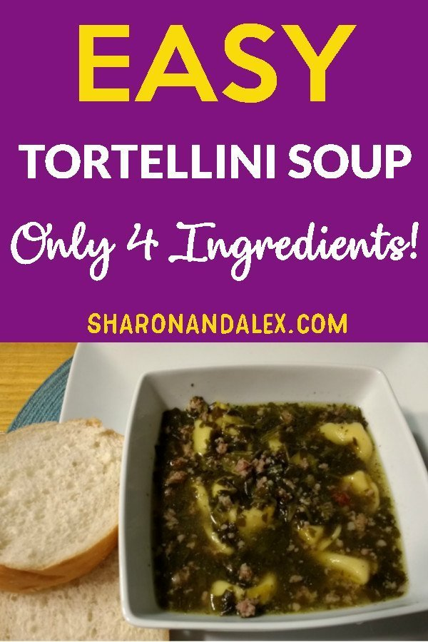 You have to try this super-easy tortellini soup recipe. With only 4 ingredients, it's one of the easiest soups you'll ever make.