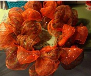 Deco mesh wreath 2nd ribbon