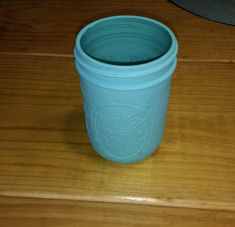 mason jar painted