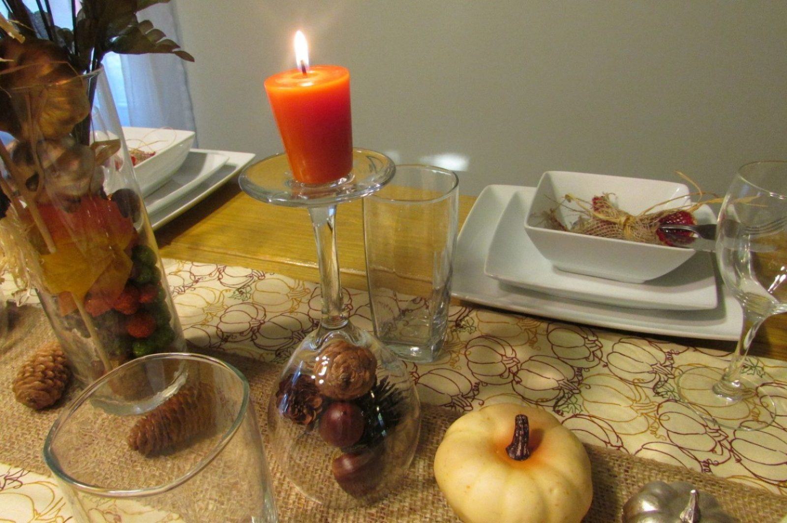 thanksgiving decorations candles