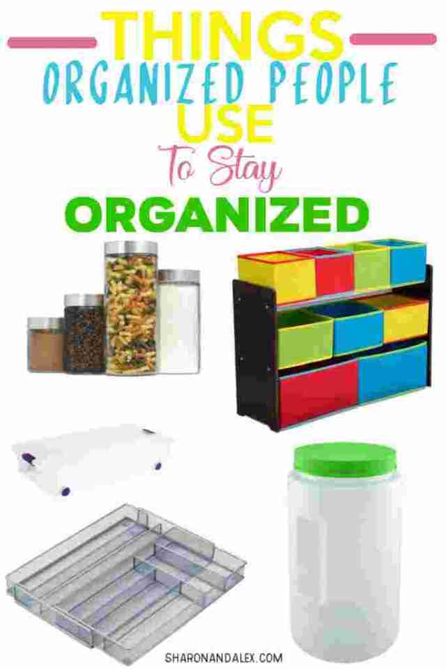 Do you dream of being one of those people who are organized and tidy all of the time? Those people have one thing in common. They have tried and trusted organization products in their home. You can be one of those people! Check out this list of things organized people use to stay organized. #organziation #organizationproducts #homeorganization #organizing #organizationtips