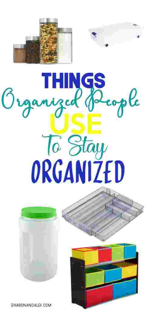 If you're feeling like you live in utter chaos all of the time, check out these things that organized people use to stay organized. Be one of those people. #organziation #organizationproducts #homeorganization #organizing #organizationtips