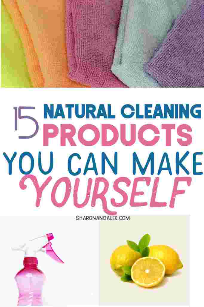 Did you know you can make your own cleaning products using all natural, common household items you probably have on hand? Avoid the harmful chemicals in store-bought cleaning products and make your own! #diycleaning #naturalcleaning #cleaning #cleaningtips #safecleaning