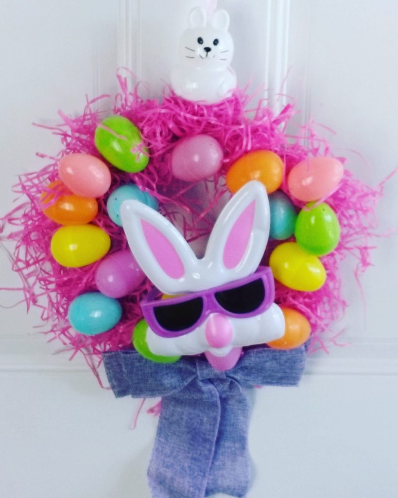 Cheap Easter wreath hanging