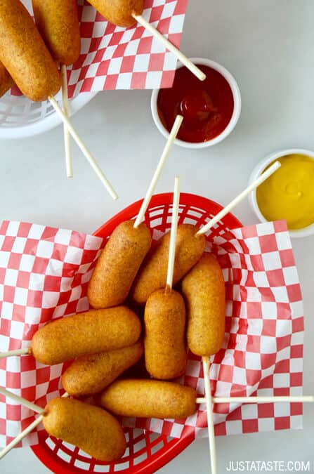 Just a Taste - easy-homemade-corn-dogs-recipe -Memorial Day Party