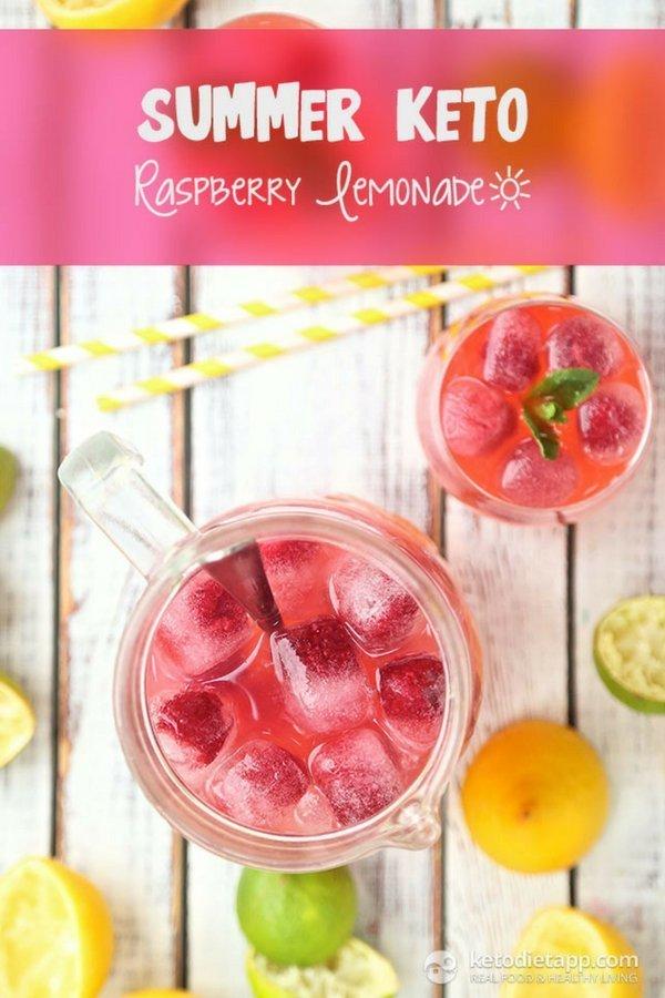 Keto Raspberry Lemonade