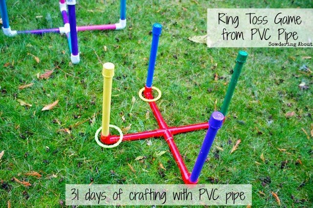 PVC Pipe ring Toss - Memorial Day Party