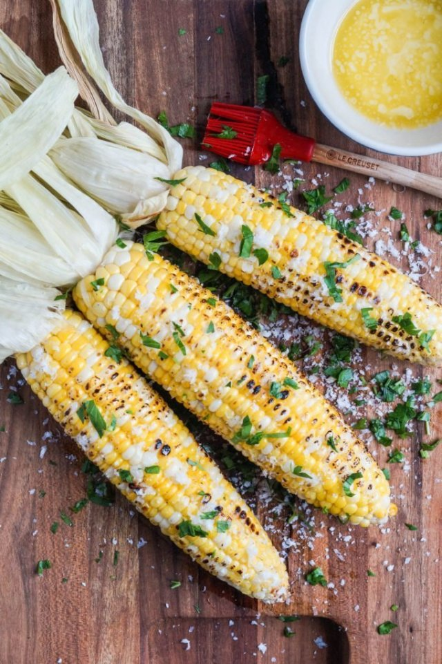 Tara's Multicultural Table - Parmesan Garlic Grilled Corn - Memorial Day Party