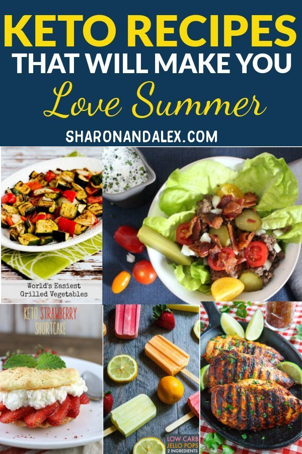 These summer keto recipes will make it easy to stick to the ketogenic diet and make you love summer. #keto #ketorecipes #ketogenicdiet #summerketorecipes