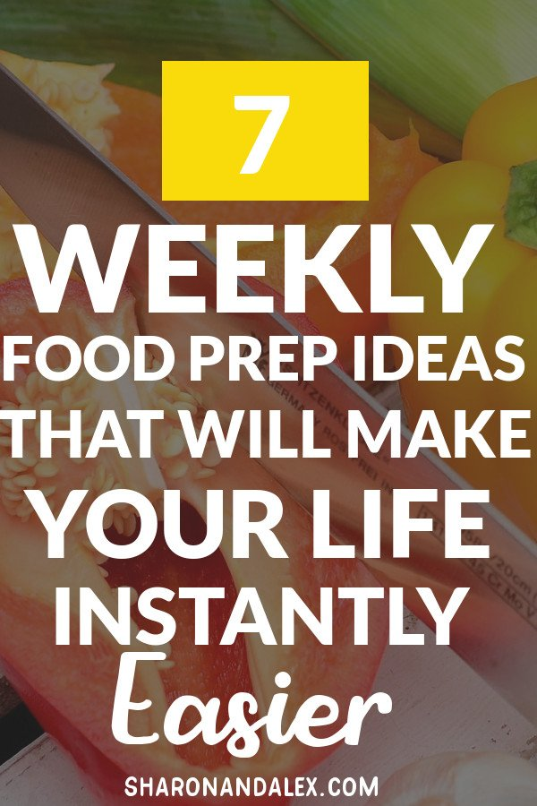 Everyone needs a little time back in their lives, right? Maximize your time spent in the kitchen with these great tips on weekly food prep. Make your life easier now and check these out! #weeklyfoodprep #foodprep #mealplanning #kitchentips #fridgeorganization