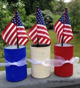 Patriotic Tin Cans - Memorial Day Party