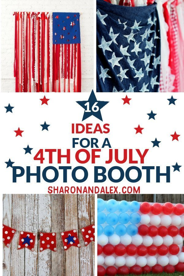 Check out these ideas for an awesome 4th of July photo booth. #4thofjuly #photoboothideas