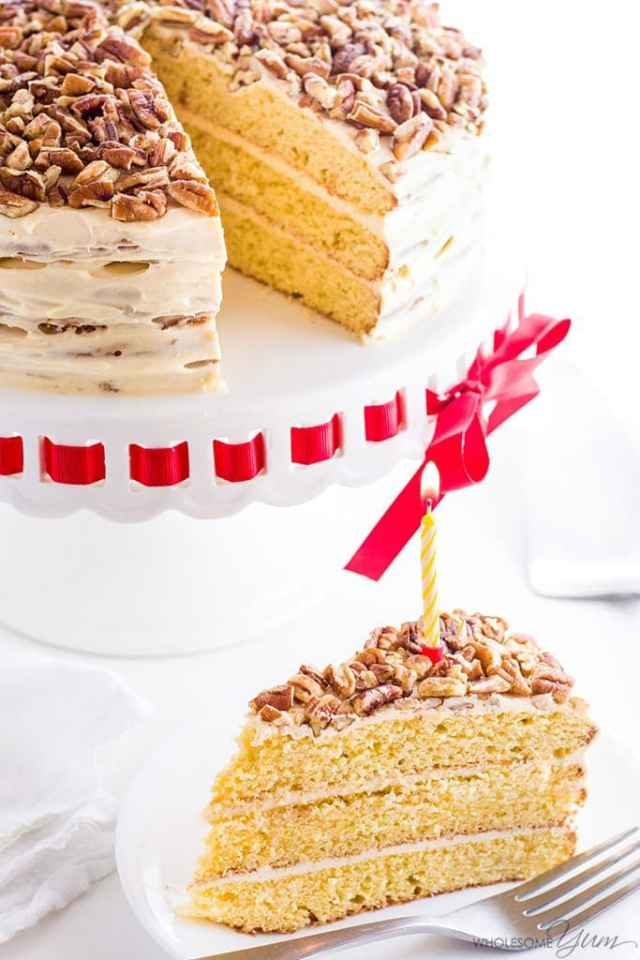 Low Carb Birthday Treats - Gluten Free Vanilla Cake