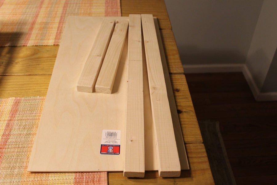DIY Rustic Wooden Tray Supplies