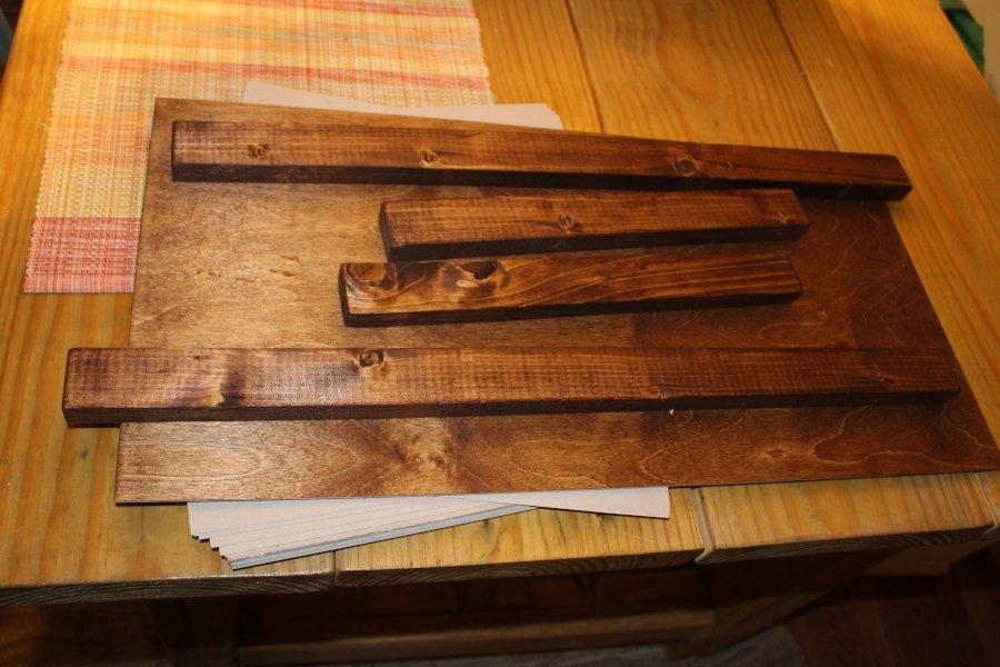 DIY Rustic Wooden Tray Polycrylic