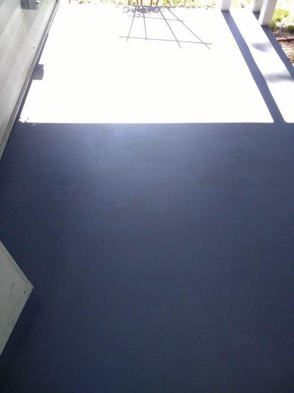 Painting a concrete porch - done