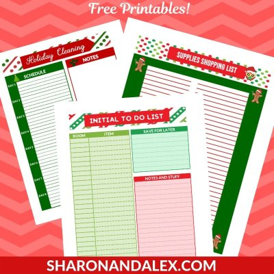 Holiday Cleaning Printables