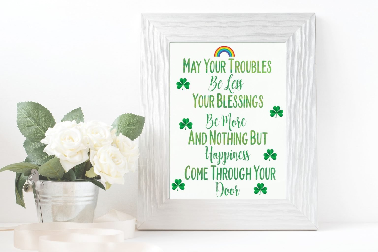 graphic relating to Printable Irish Blessing identify Irish Blessing Free of charge Printable For St. Patricks Working day (or Any