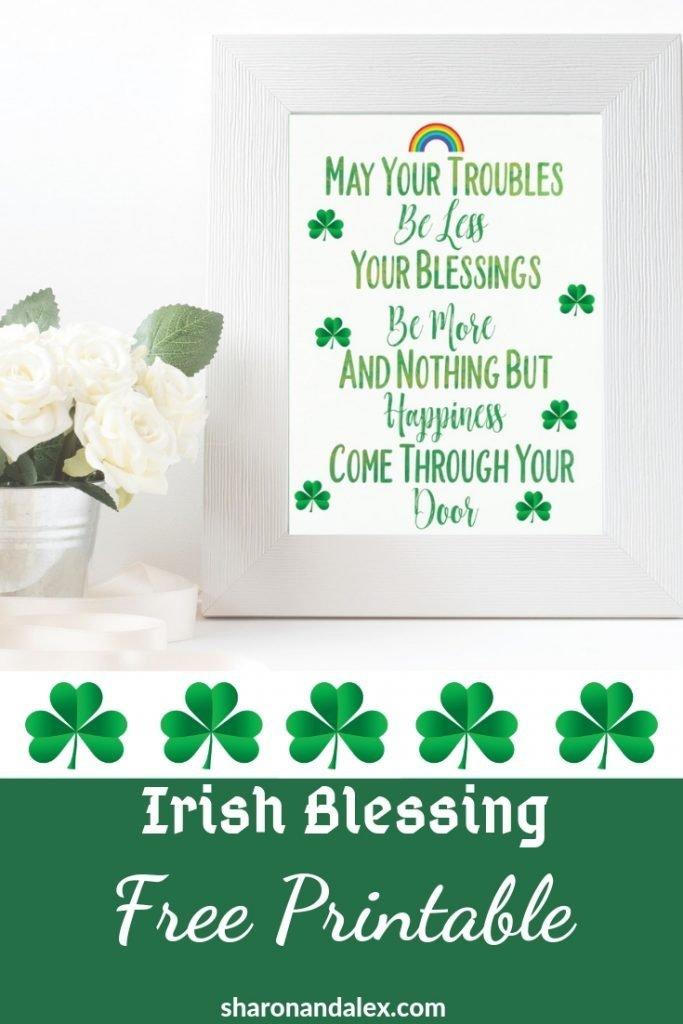 photograph regarding Printable Irish Blessing named Irish Blessing Totally free Printable For St. Patricks Working day (or Any