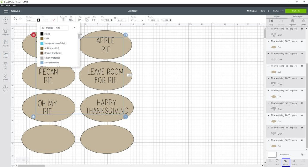 Set text to draw in Design Space