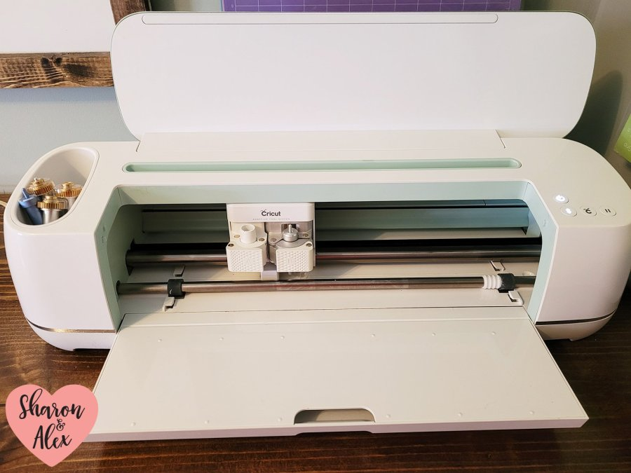 Cricut Maker with lid open