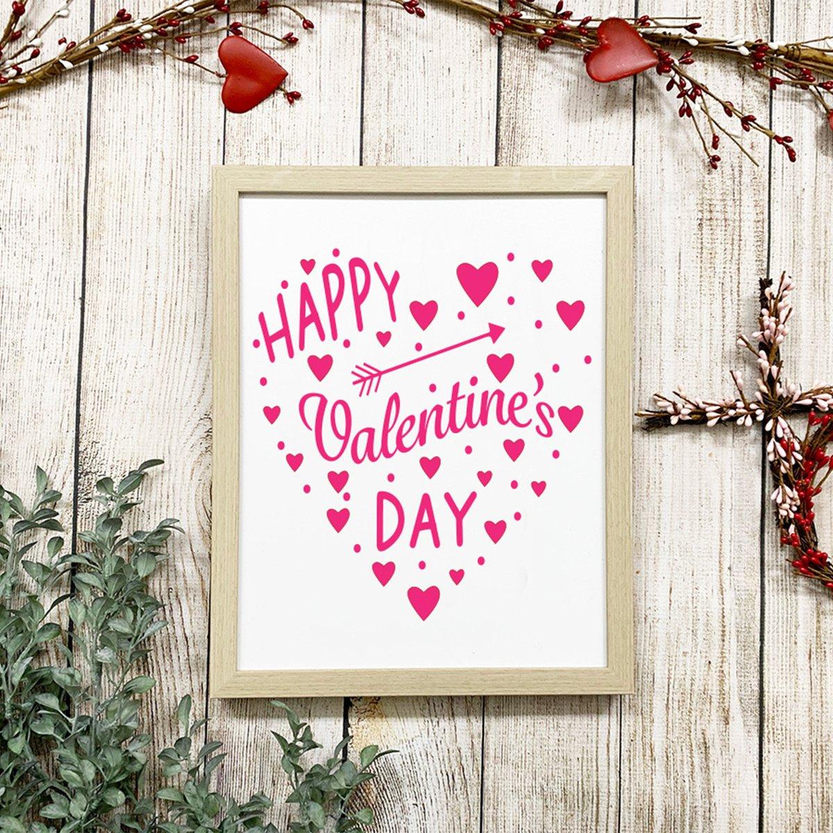 Valentine's Day Heart SVG Styled