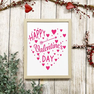 Valentine's Day Heart SVG Styled