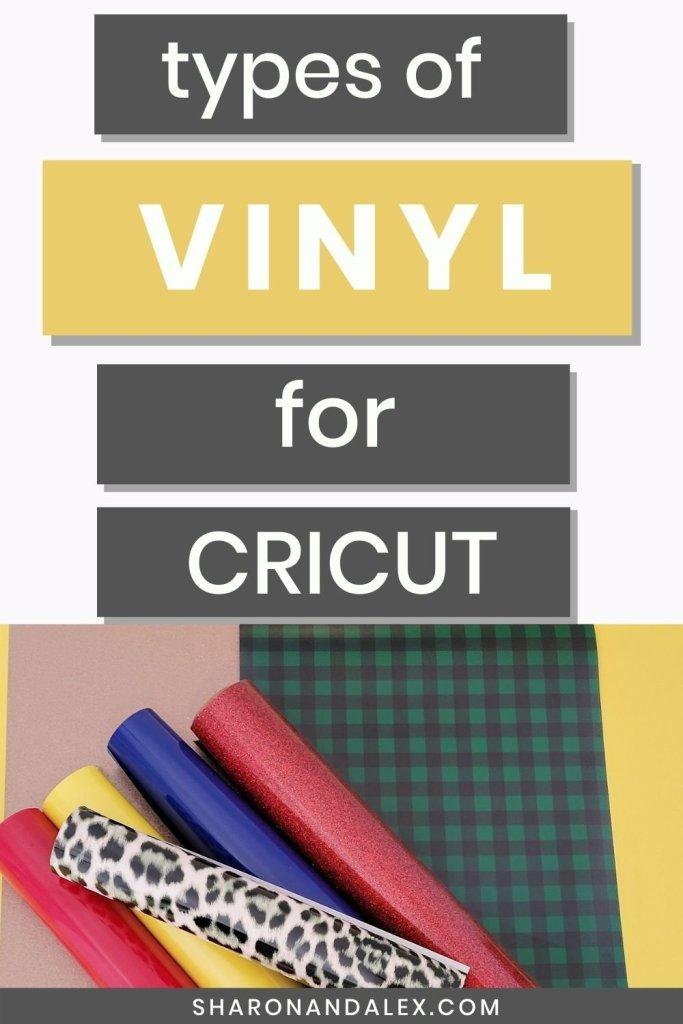 Types of Vinyl for Cricut pin image