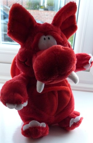 red welsh dragon soft toy