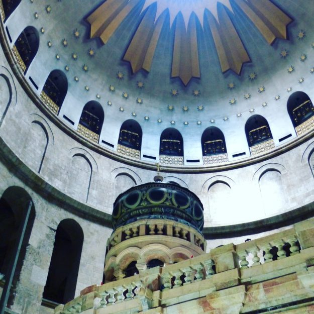 The Church of the a Holy Sepulchre - built on the site where Jesus died and was resurrected